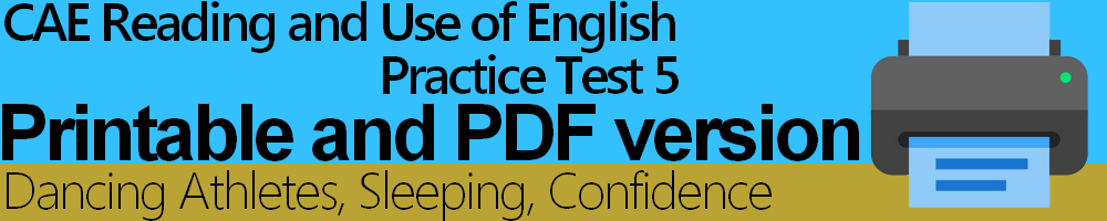 CAE Reading and Use of English Practice Tests (print-friendly