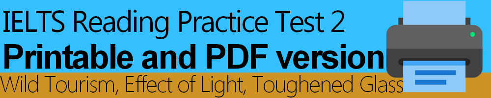 IELTS Reading Practice Test 2 Printable and PDF version