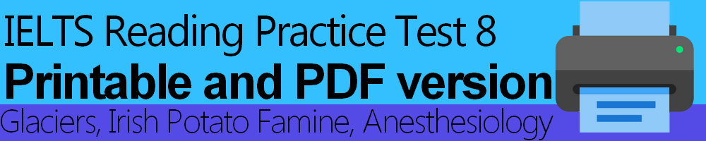 IELTS Reading Practice Test 8 Printable and PDF version