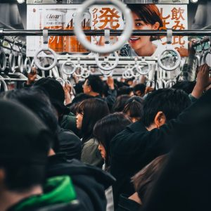 FCE Speaking Card - an overcrowded subway car during peak hours