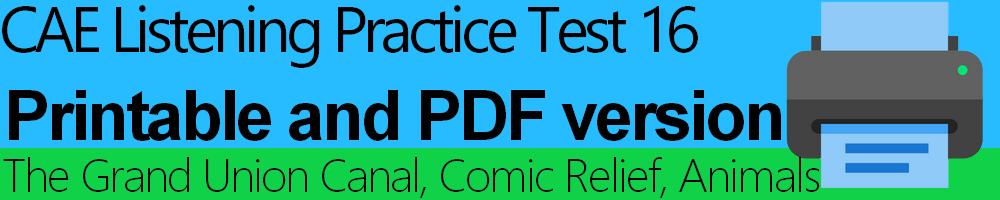 CAE Listening Practice Test 16 printable