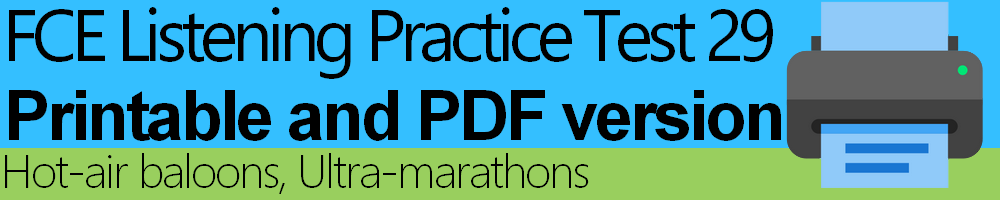 FCE Listening Practice Test 29 printable